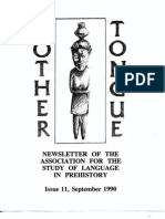 Mother Tongue Newsletter 11 (September 1990)