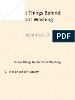 Devotion - Great Things about Foot Washing