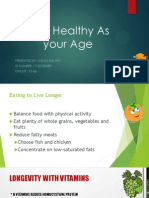 Stay Healthy as Your Agesta