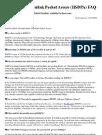 High Speed Downlink Packet Access FAQ