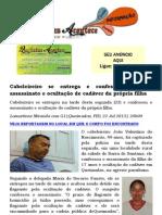 Cabeleireiro suspeito de matar filha está preso; Ele foi capturado na zona rural de Barra de Santana.docx