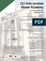 11th Indo-German Winter Academy2012