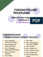 Perhitungan Volume Pekerjaan