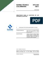 Ntc - Iso 19011 Directrices Para La Auditoria de Los Sistemas de Gestion