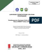 Cover Laporan Pernyataan Selesai Pekerjaan