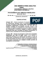 El Embargo Inmobiliario en La Ley 189