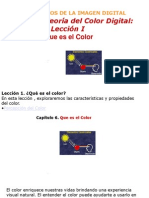 PRINCIPIOS DE LA imagen digita lteoría del color