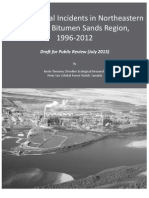 Environmental Incidents in Northeastern Alberta's Bitumen Sands Region