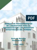 Manual_ Procedimientos de Laboratorio Para El Diagnostico de Los Parasitos Intestinales Del Hombre