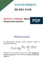 ADiferenciacion e IntegracionNumerica