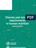 Vitamin and Mineral Requirements in Human Nutrition,