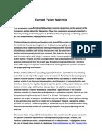 Earned Value Analysis Method