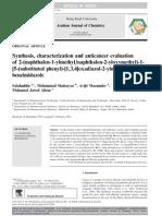 Synthesis, characterization and anticancer evaluation of 2-(naphthalen-1-ylmethyl/naphthalen-2-yloxymethyl)-1- [5-(substituted phenyl)-[1,3,4]oxadiazol-2-ylmethyl]-1Hbenzimidazole