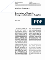 1982 EPA - Speciation of Arsenic Compounds in Water Supplies