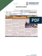 Informe de prensa semana del 12 al 19 de julio de 2013