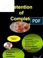 Retention of Complete Denture