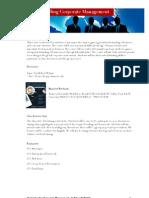 understanding corporate management - fall 2012