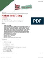 Nahm Prik Gung