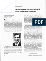 The Industrialization of a Graduate Methods for Engineering Education
