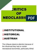 Critics of Neoclassical-12 13-Std