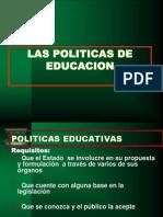 Politica de La Educaccion