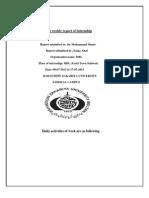 First Weekly Report of Internship( Faiqa Altaf HBL)