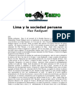 Lima y La Sociedad Peruana Max Radiguet
