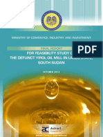 feasibility study Yirol oil mill report ,south Sudan