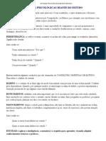 ATITUDES PSICOLÓGICAS DIANTE DO ESTUDO