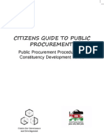 Citizens Guide to Public Procurement Procedures_ Timothy Mahea