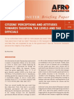 Citizens' Perceptions and Attitudes Towards Taxation, Tax Levels And Tax Officials