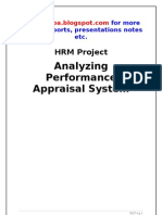 22450531 Performance Appraisal Project Report