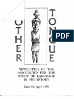 Mother Tongue Newsletter 10 (April 1990)