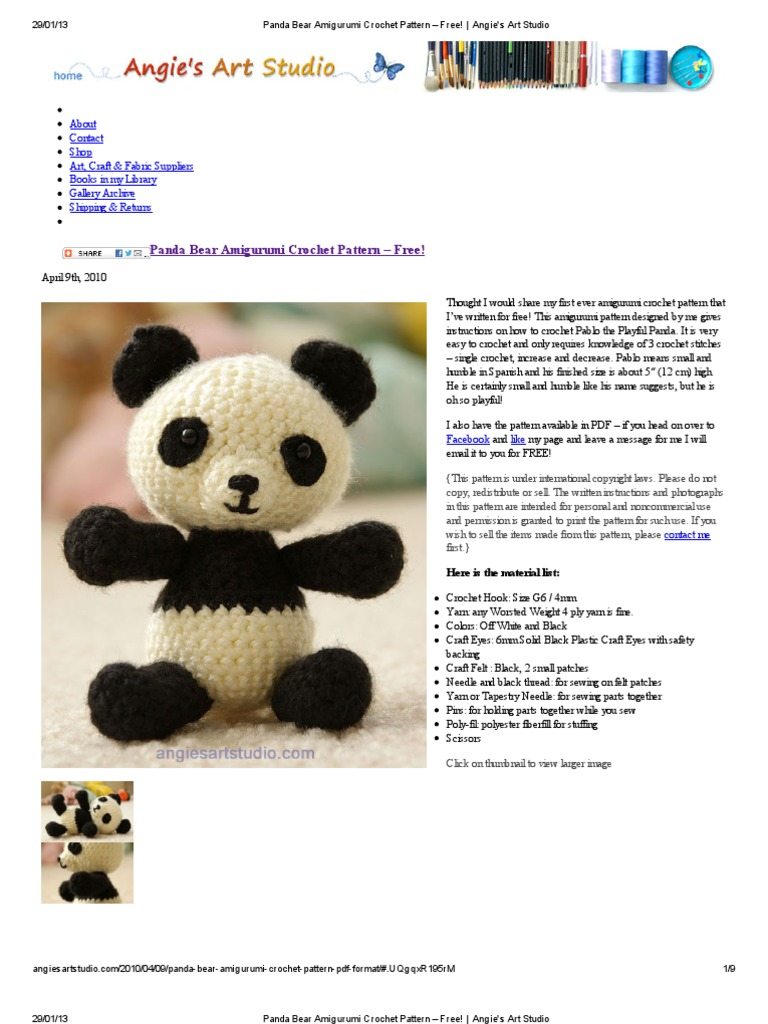 9 Crochet Panda Patterns – Cute Amigurumi Bear Toys - A More ... | 1024x768