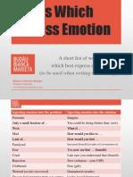 Words Expressing Emotion
