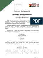 Lei de Bases do Des Agrário