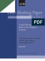 A Small Macroeconometric Model of the Philippine Economy