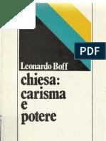 """Boff, """"Chiesa Carisma e Potere"""""""