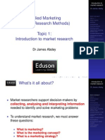 1 Introduction to Market Research