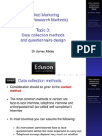 3 Data Collection Methods and Questionnaire Design