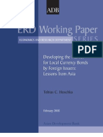 Developing the Market for Local Currency Bonds by Foreign Issuers