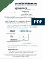 NDRRMC Update SitRep No. 22 Re Effects of Typhoon PEDRING (NESAT)