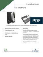 PDS S-Series SerialInterface