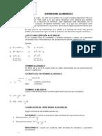 EXPRESIONES ALGEBRAICAS 2°