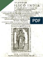 Símbolo Católico Indiano 1598