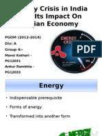 Energy Crisis Ppt in macro economics