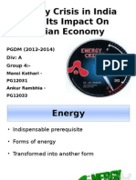 Energy Crisis Ppt in macro economics