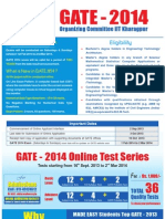 GATE 2014 Notification GATE 2014 Application Form Date GATE 2014 Eligibility Criteria