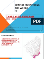 Cebu City Engineering 3-YEAR PROGRAM