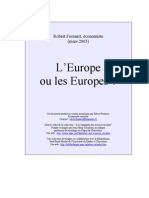 L Fossaert Europe Ou Europes